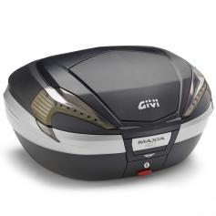 Baúl trasero V56NN MAXIA 4 con tapa negra - catadrióptricos transparentes - de GIVI