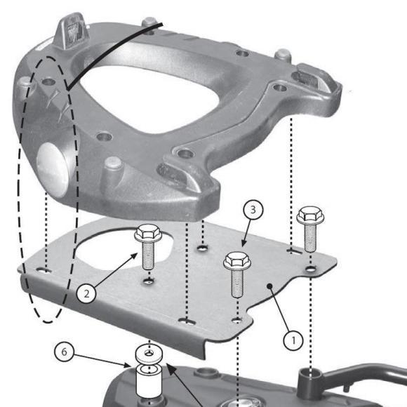 Adaptador posterior específico para maleta MONOKEY® en modelos F700GS - F800GS - F800GS Adventure