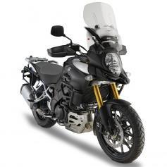 Cúpula específica Airflow transparente (50 cm X 44 cm) para Suzuki DL 1000 V-Strom (17-) **extensible** de GIVI