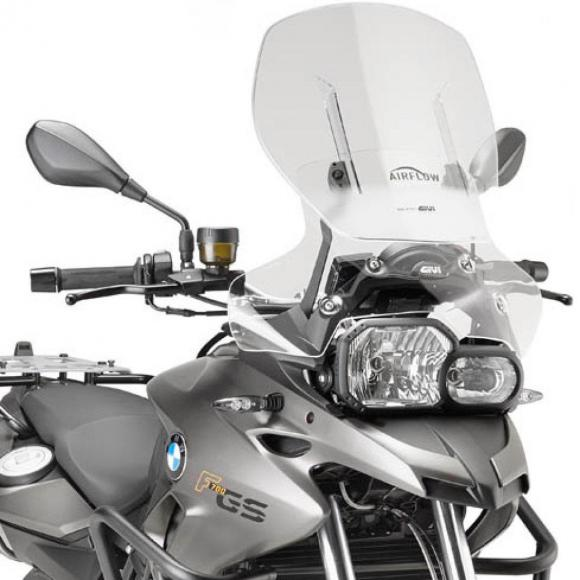 Cúpula específica transparente extensible Airflow (53 X 51 cm) para BMW F 700 GS (13 - 17) de GIVI