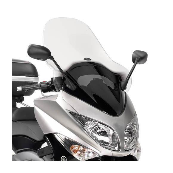 Parabrisas transparente (50 x 57 cm) para Yamaha T-MAX 500 (08-11) de GIVI