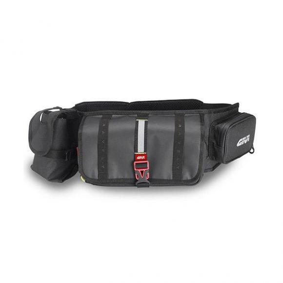 Riñonera Waterproof equipada con compartimiento porta utensilios, porta botella y porta smartphone de GIVI