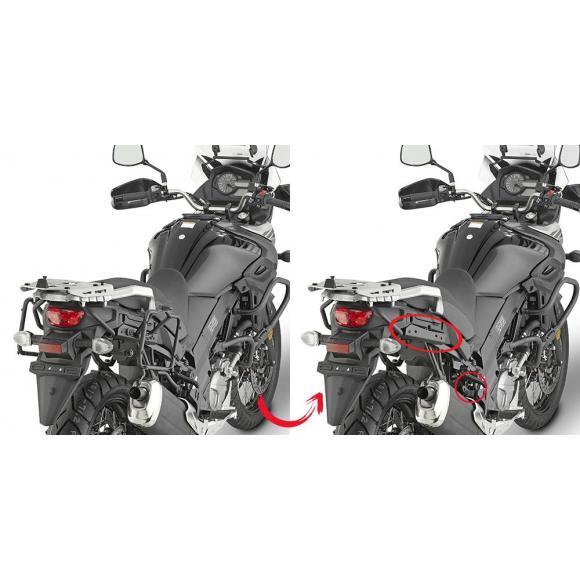 Portamaletas lateral de fijación rápida para maletas MONOKEY® para Suzuki DL650 V-Strom (17-) de GIVI