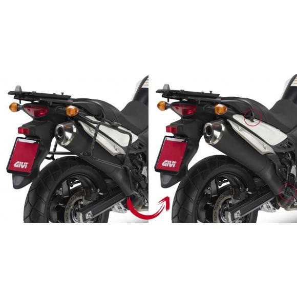 Portamaletas lateral para maletas MONOKEY® para Suzuki DL650 V-Strom L2-L3-L4-L5-L6 (11-16) de GIVI