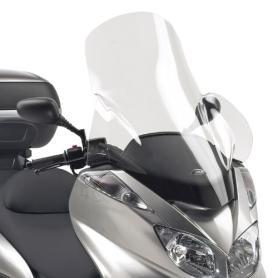 Parabrisas específico transparente con spoiler 74 x 64 cms (hxa) para Yamaha Majesty 400 (04-08) de Givi