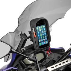 Barra para montar detrás de la cúpula para colocar S902A, S920M, S920L y porta GPS-Smartphone de Givi