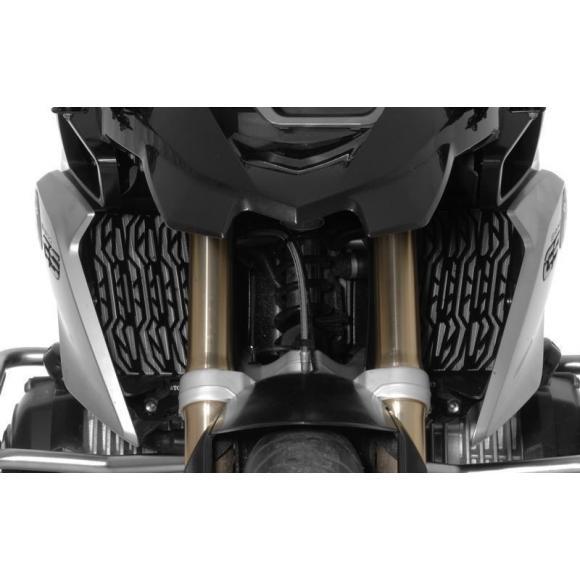 Protector de radiador de acero, negro, BMW R1200GS (LC)/R1200GS Adventure (LC)