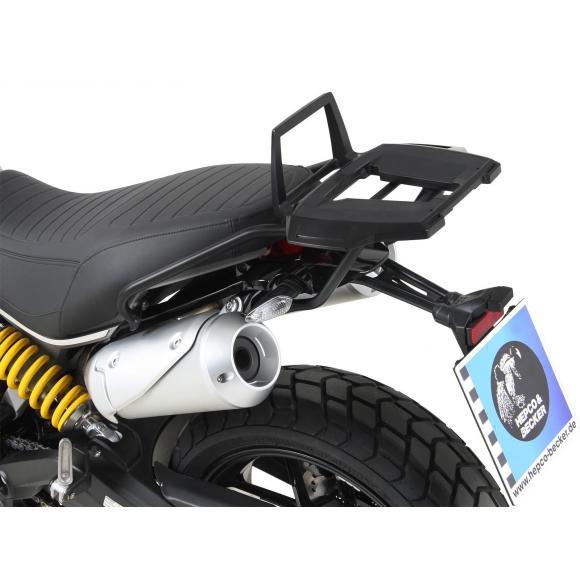Soporte trasero Alurack-negro para Ducati Scrambler 1100 de 2018