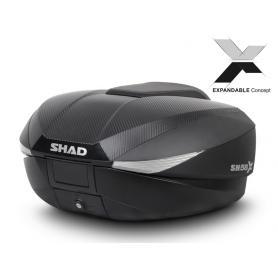 Baúl trasero expandible SH58X regulable en tres posiciones (L/XL/XXL) de SHAD