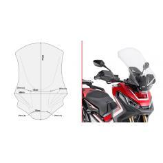 Parabrisas específico transparente con spoiler 65 x 40 cms para HONDA X-ADV 750 (17-18)