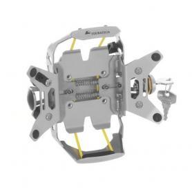 Soporte de manillar Garmin ZUMO 590 / 595 LM *se puede cerrar con llave* Anodizado de aluminio natural