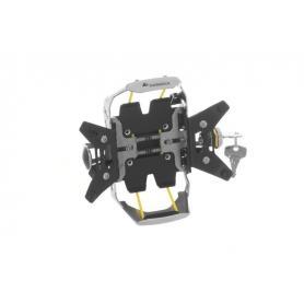 Soporte de manillar Garmin ZUMO 590 / 595 LM *se puede cerrar con llave* negro