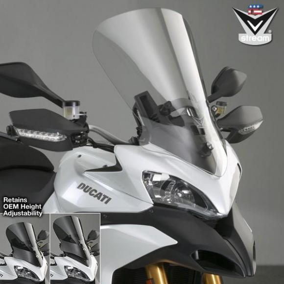 Pantalla VStream® transparente con revestimiento FMR para Ducati® Multistrada/S
