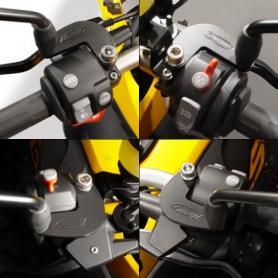 Extensor del retrovisor en acero negro pulverizado para BMW® R1200GS/R/ST