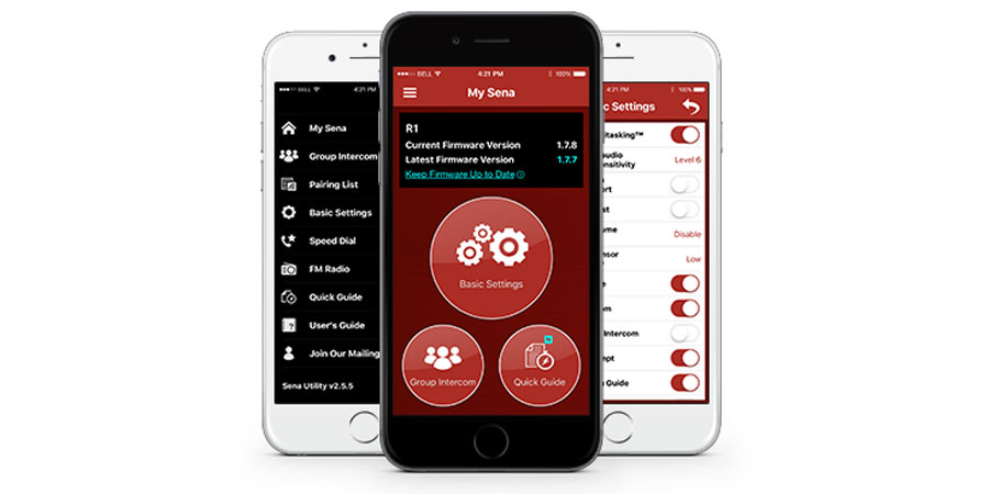 Casco ciclismo R1 de Sena con Bluetooth Intercom