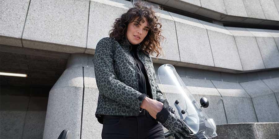 Chaqueta moto Revit Shade H2O para mujer